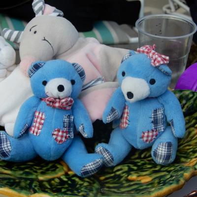 Duo d'ours bleus